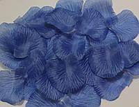 Лепестки роз искусственные 200 шт. Цвет синий. Украшение праздника, свадьбы, торжества
