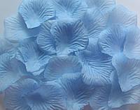 Лепестки роз искусственные 200 шт. Цвет голубой. Украшение праздника, свадьбы, торжества