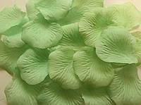 Лепестки роз искусственные 200 шт. Цвет зеленый. Украшение праздника, свадьбы, торжества