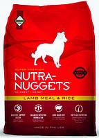 Корм для взрослых собак с ягнёнком  Nutra Nuggets Lamb&Rice  1 кг