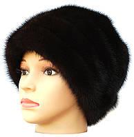 """шапка меховая норковая """"Барби"""" цвет черный"""