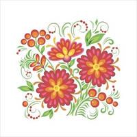 """Схема для вышивки гладью """"Цветы"""""""