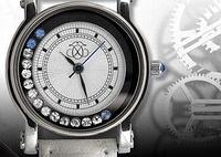 Женские часы с камнями Swarowski (Сваровски) в подарочной упаковке недорого со скидкой (Код 70706)