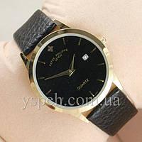 Мужские Часы Patek Philippe Slim Gold/Black