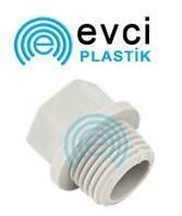 Заглушка пластиковая 1\2 наружная резьба для полипропиленовых труб Evci Plastik