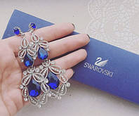 Серьги женские Виктория синие, женские сережки