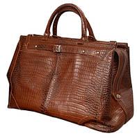 Стильная кожаная сумка-саквояж 28 л SB 1995 702027 коричневая