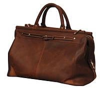 Комфортная кожаная сумка-саквояж SB Vintage 28 л SB 1995 702351 коричневая