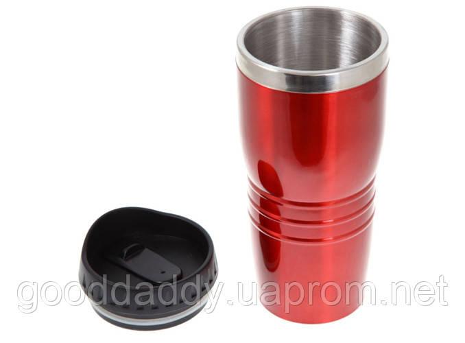 Термокружка металлическая (400 мл) красная