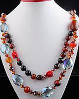 Бусы ожерелье из сердолика