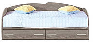 Кровать с выдвижными ящиками К-117 (дуб трюфель)
