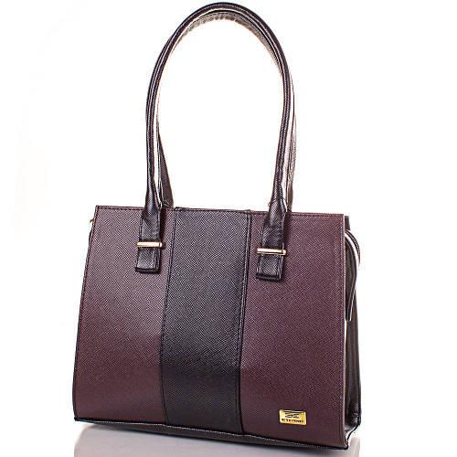 Оригинальная женская сумка из качественной искусственной кожи Артикул: ETMS35245-17 бордовый