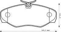 Тормозные колодки передние на Renault Trafic  2001->  —  TEXTAR (Германия) - 23099 18,4 0 4
