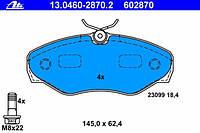 Тормозные колодки передние на Renault Trafic  2001-> —  ATE (Германия) - 13.0460-2870.2