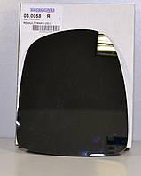 Стекло зеркала на Renault Trafic  2001->  R (правое, механика)   — Transporterparts  (Франция) - 03.0058