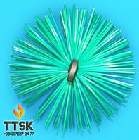 Пластиковая щётка для чистки дымохода 300 мм (под веревку)