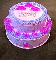 Шкатулка музыкальная Торт - подарок для девочки или девушки