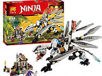Конструктор Lele  Ninja 79111 Титановый дракон (аналог Lego Ninjago 70748)
