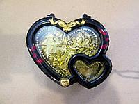 Небольшая музыкальная шкатулка с подсветкой Два сердца - подарок для девушки