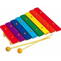 Детский музыкальный инструмент Ксилофон Д045у Руди, 8 тонов