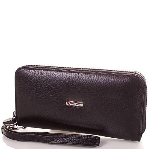 Практичный женский кожаный кошелек Артикул: SH075-2 черный