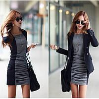 Стильное зимнее женское платье. Модель 05301
