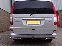Защита заднего бампера уголки Mercedes Viano 2004+ г.в.