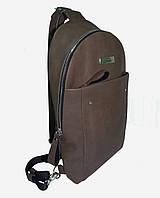Мини рюкзак коричневый, кожа