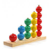 Деревянная игрушка Пирамидки Счет ― шары 5 в 1 Д079у Руди