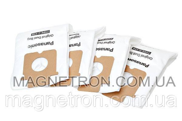 Мешок бумажный (4шт) для пылесосов Panasonic Type C-17 AMC-J2EP, фото 2