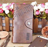 Мужская барсетка, портмоне, бумажник Bailini Long sid star. Удобный кошелек из PU кожи. Код: КЕ426