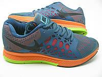 Мужские кроссовки Nike Air Max Pegasus синие с оранжевым цвета оригинал