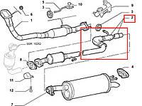 Труба выхлопная с резонатором (средняя часть) 1.9D/JTD/MJTD