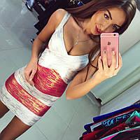 Клубное бандажное мини платье (арт. 224826672)