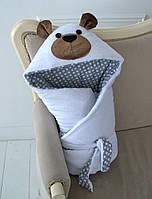 Одеяло–конверт «Мишка» на выписку, ДЕМИ