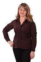 Модные рубашки , шоколадная рубашка , блузки из шелка , бл 006-2