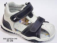 Детские босоножки (сандалии) B&G для мальчиков с закрытым носочком