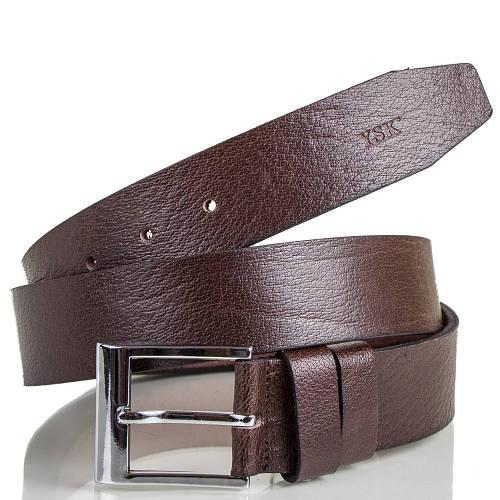 Качественный мужской кожаный ремень Y.S.K. SHI2009-10 коричневый
