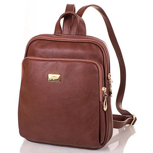 Компактный женский рюкзак из качественной искусственной кожи ETERNO Артикул: ETMS35240-10 коричневый