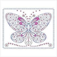 """Набор для вышивки декоративными швами """"Бабочка"""