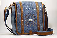 Женская сумка планшет с темнорыжей кожей