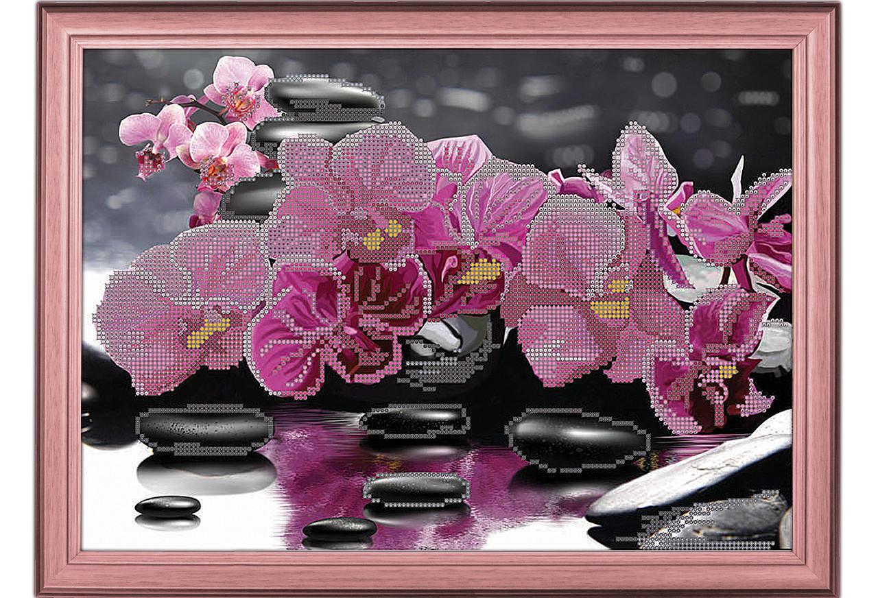 Схема вышивка бисер орхидея 724