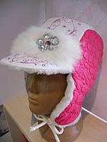 Зимняя меховая шапка с козырьком
