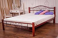 Кровать Лара(металлическая, двуспальная с деревянными ногами) ТМ Метакам