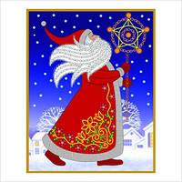 """Набор для вышивки декоративными швами """"Дед Мороз"""""""