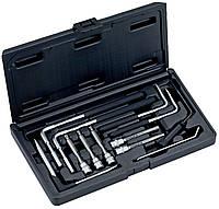 Инструмент для кузовных работ, Набор инструментов для работ с подушкой безопасности, 12 шт, Bahco, BBS100