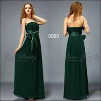 Вечернее платье с бантом , изумруд.S M.L.XL