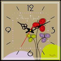 """Годинник настінний квадратний """"Мир вам"""""""