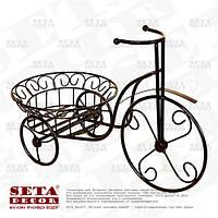 Подставка под цветы Цветочный Велосипед металлическая