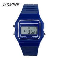 Спортивные электронные наручные часы с секундомером, будильником и подсветкой Ernstes Blau
